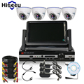 4CH CCTV System kit 720P/960P DVR with 7inch displayer 1200TVL 1500TVL  IR Dome indoor Home Surveillance Kit