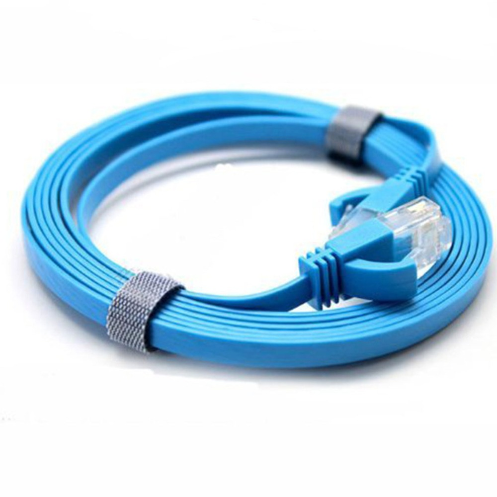 Network Cable Jumper CAT6 UTP pure copper network line six flat cable 1 meter gigabit over test finished cable networking cables