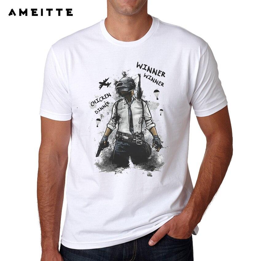 Cool Playerunknown S Battlegrounds T Shirt Large Size: Gaming Playerunknowns Battlegrounds Pubg T Shirts Men's