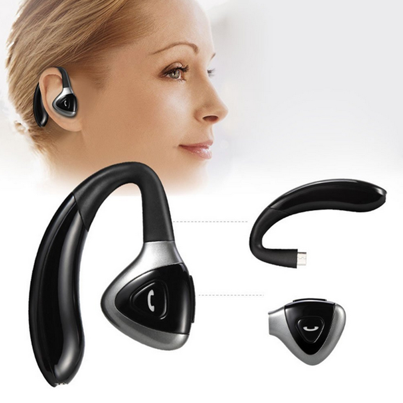 New Handsfree Business Bluetooth Headphone With Mic Voice Control Wireless Headset Drive Noise Cancelling  for Android IOS mp3 a01 bluetooth headset v4 1 wireless headphones noise cancelling with mic handsfree earpiece for driving ios android