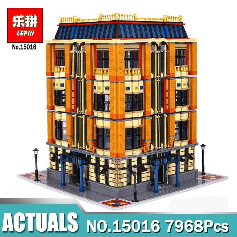 Nouveau Lepin 7968 Pcs 15016 Véritable Série MOC La Apple L'université Ensemble Blocs de Construction Briques Compatible LegoINGlys Jouet Éducatif