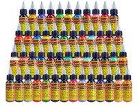 50 цветов 30 мл/бутылка чернил для татуировки Перманентная краска для тела Микро Пигмент брови, подводка, губы для тату бодиарта инструменты д