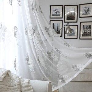 Image 5 - المطرزة تول نافذة الستائر الحديثة لغرفة المعيشة غرفة نوم المطبخ شير الستائر على نافذة الستائر النسيج ل صالون