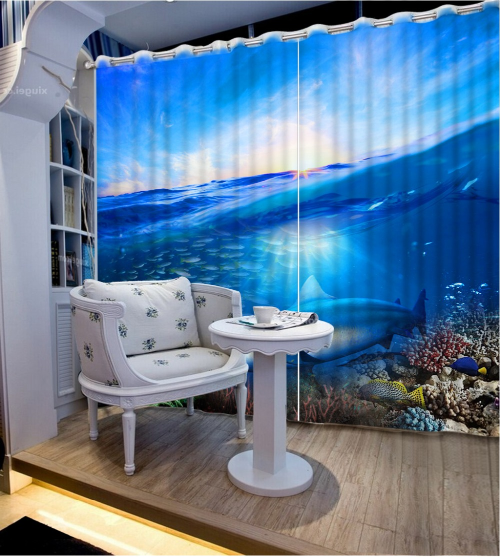 Blue curtains for living room - Europe Style 3d Window Curtains For Living Room Blue Landscape Blue Curtains For Living Room