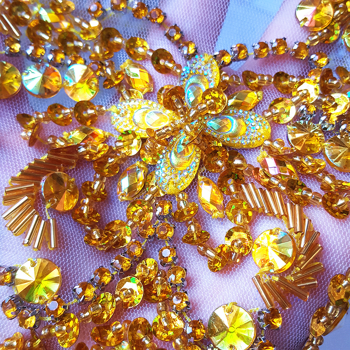 CRazy 29x39cm Yellow Sew on Rhinestones Sequins wedding Decoration bridal  dress Appliques and Patches for Costumes Beaded Diy-in Patches from Home    Garden ... cbb0a9cc8f7d