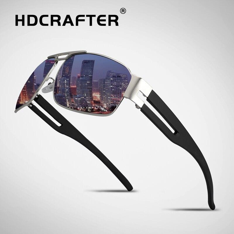 HDCRAFTER бренд мужской ретро Алюминий солнцезащитные очки поляризованные линзы Винтаж очки аксессуары вождения солнцезащитные очки для Для м...