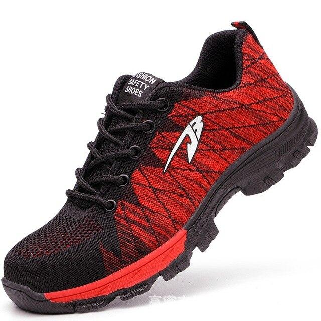 DUDELI brand steel toecap women men work & safety boots steel mid sole impact resistant soft male shoes plus size 39-48 RXM106 1
