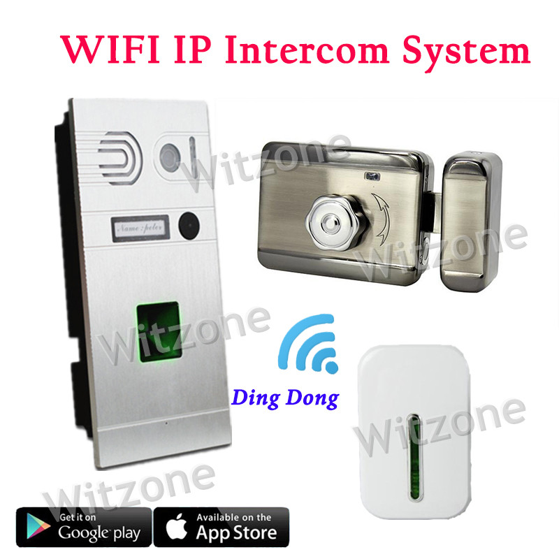 Two Way Communication Wireless WIFI Fingerprint Video Intercom System Doorbell+Mute Electronic Lock+Door Chime,Free Shipping abdul basit mobility model for optical wireless communication system