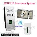 Two Way Communication Wireless WIFI Fingerprint Video Intercom System Doorbell+Mute Electronic Lock+Door Chime,Free Shipping