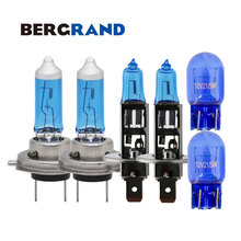 Bombillas H1 H7 Halogen 12V 55W Headlight bulbs 4300k Xenon T20 21/5W 7443 natural glass blue DRL luces para coches For OPEL