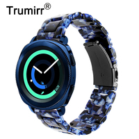 Trumirr Resin Watchband 20mm for Samsung Gear Sport / Galaxy Watch Active / Vivoactive3 Band Quick Release Strap Rubber Bracelet