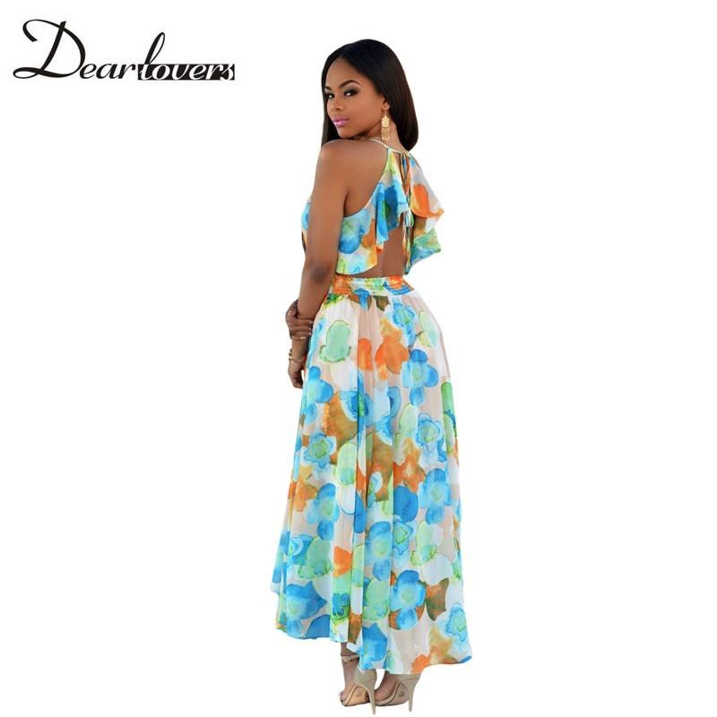 HTB1AiOTKFXXXXcBXXXXq6xXFXXXa - Maxi Dress Floral Slit Romper Long Dress JKP062