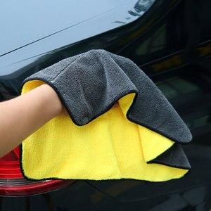 Image 2 - Extra macio 30*30 30*60 30*40cm lavagem de carro toalha de microfibra pano de secagem de limpeza de pelúcia cuidado de carro detalhando polimento