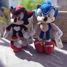 2 stijl 28 cm Sonic Knuffels Pop Blauw Shadow Pluche Soft Gevulde Speelgoed voor Kinderen Kerst geschenken