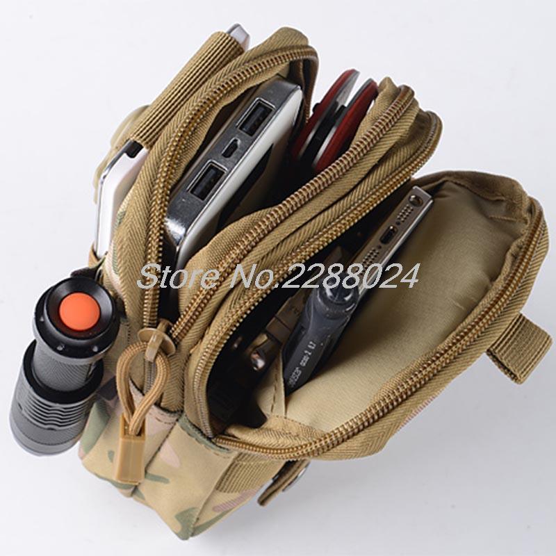 Tactical Waist Bag Mobile Phone Pack Sport Mini Pocket Bags for Microsoft Lumia 950 950 XL oneplus 3 2 For Asus Zen AiO Zenpad S