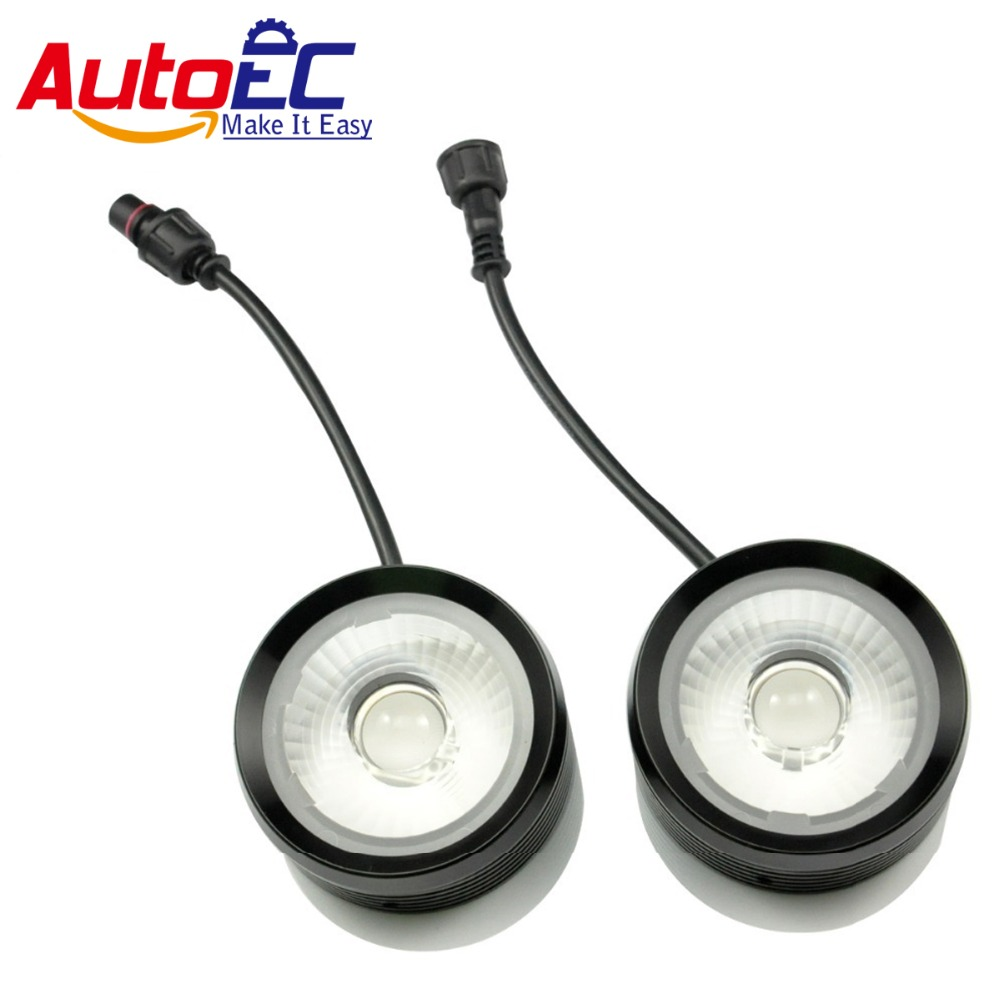 AutoEC 2*10w Strobe Eagle Eyes with Lens DRL led daytime running light for Car SUV blue red flash led #LM24 tak wai lee 10pcs set multi function led drl daytime running light car styling trun steering eagle eyes on off with controller