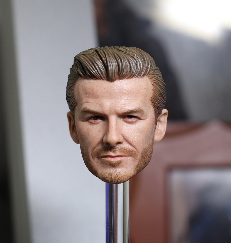 THREEQ MG001 Beckham  head carved 1/6 DIY doll Replaceable accessories Soldier model Parts Does not include the body and clothes 1 mg 6 в н новгороде