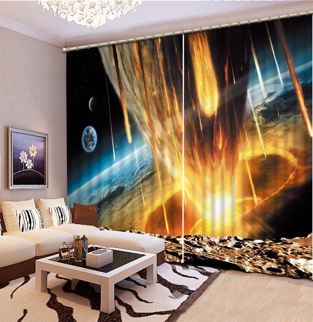 3D Шторы плотные тени окна Шторы s пространство метеоритный дождь Шторы s для Гостиная 3D Ванная комната Душ 3D Шторы s