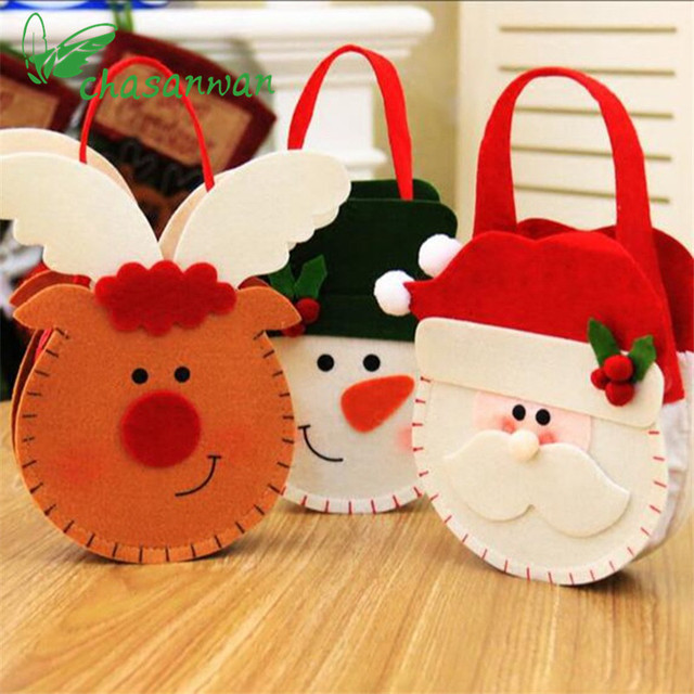 Christmas Decorations Three - Dimensional Gift Candy Bags Christmas Decorations for Home Party Decoration Christmas Gift Natal.Q