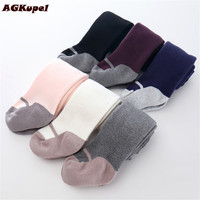 AGKupel Girls Cotton Spring Autumn Tights Children Girls Warm Pantyhose Baby Girls Knitting Gympak Tights Soft