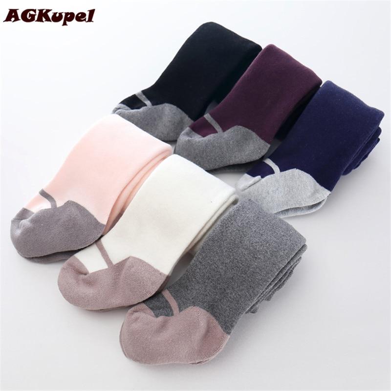 AGKupel Girls Cotton Spring Autumn Tights Children Girls Warm Pantyhose Baby Girls Knitting Gympak Tights Soft