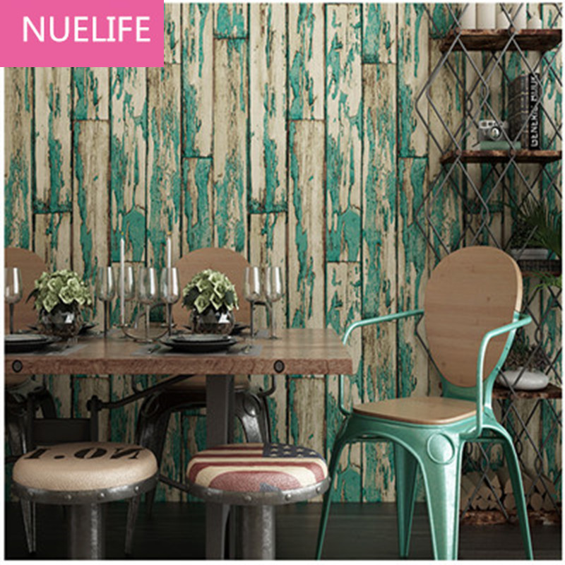 0.53x10m  wood grain vertical striped pattern wallpaper  clothing store living room bedroom wedding room decoration wallpaper junran america style vintage nostalgic wood grain photo pictures wallpaper in special words digit wallpaper for living room