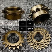 цена на 12T-18T Mountainbike Road bike Bicycles Freewheel teeth 1 speed 3 speed flywheel denticulate spare parts free shipping
