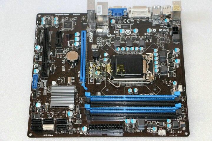 Бесплатная доставка первоначально материнская плата для MSI b75ma-p45 LGA 1155 DDR3 платы поддерживают 22nm B75 рабочего Материнская плата