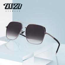 20/20 marka projekt klasyczne okulary męskie polaryzacyjne lotnictwa ramki rocznika jazdy UV400 ochrony KB1250