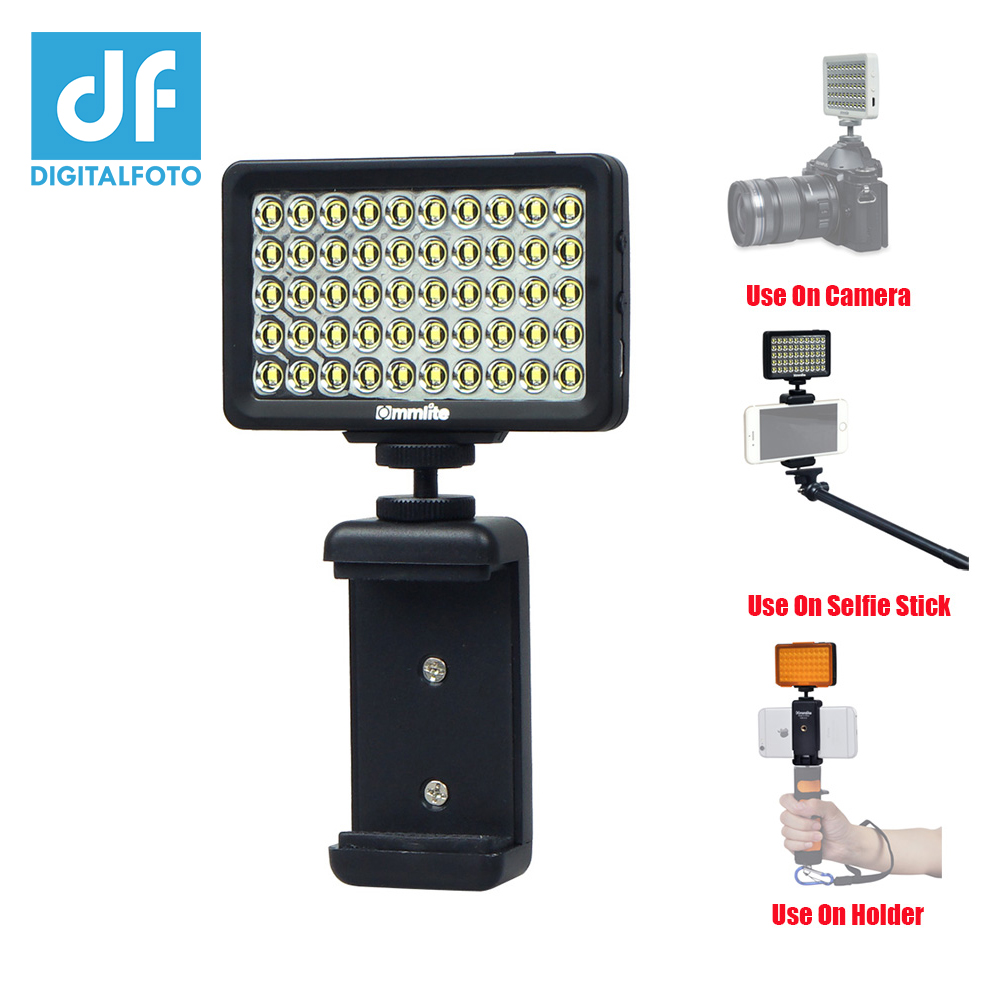 Camera LED Video Light Spotlight,Multifunction Rechargeble Pocket Mini on Camera Led Light with 1000mA Battery Compatible with Cellphone//Pad// DSLR M