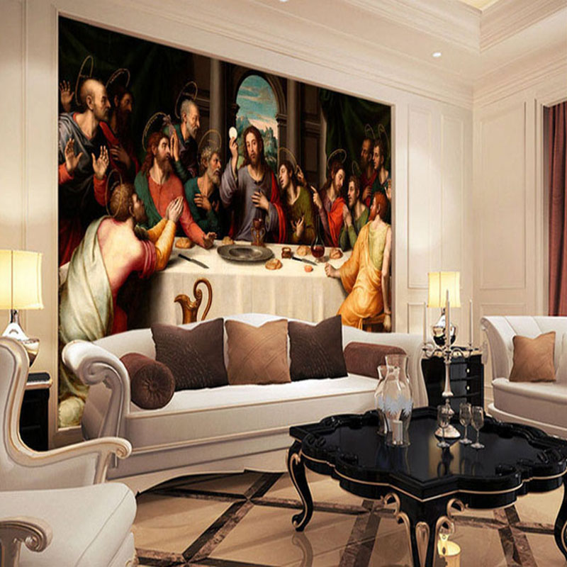 Aliexpress.com : Buy Custom Photo Wallpaper Murals European Oil Painting Last  Supper Large Wall Painting Living Room Background Wall Mural Wallpaper From  ... Part 82