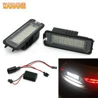 KAHANE 2pcs 18SMD LED License Plate Light Lamp White Error Free For VW Golf GTI MK4
