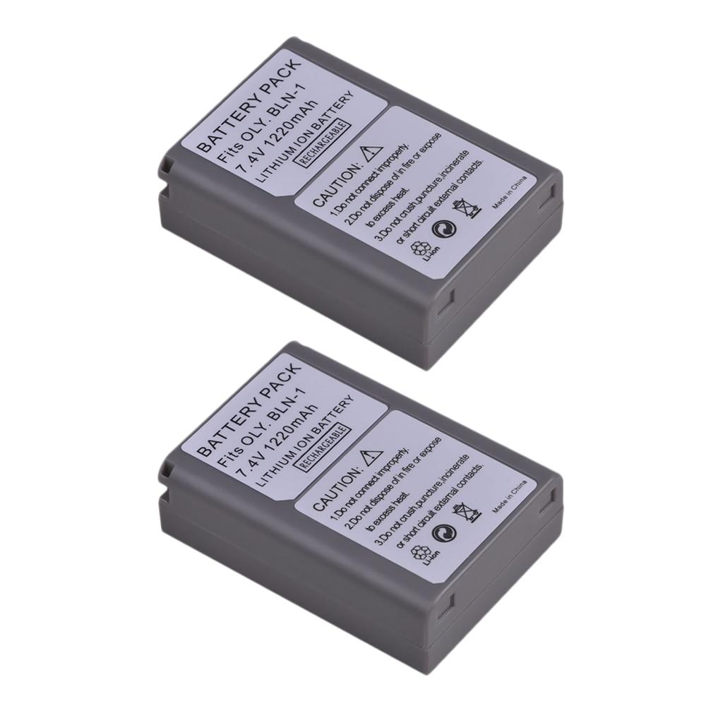 2Pcs 1220MAH BLN-1 BLN1 Battery for Olympus E-M5 OM-D E-M1 E-P5 Cameras цена