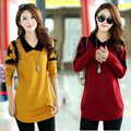 New 2016 Autumn Winter Women's Loose Coat Long Sweaters Fashion Crocheted Casual Pullovers Clothing Women Tops Pullover Sweater