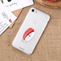 KISSCASE Painted Cute Cartoon Salmon Sushi Case For iPhone 7 6 6s Plus 5 5s SE Clear Soft Silicone Cover For iPhone 6 6s 7 Plus