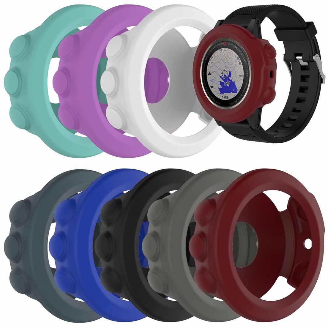 الملونة سوار معصم من السيليكون سوار حامي الفرقة غطاء حالة الجلد حامي ل غارمين فينيكس 5X ساعة بـ GPS