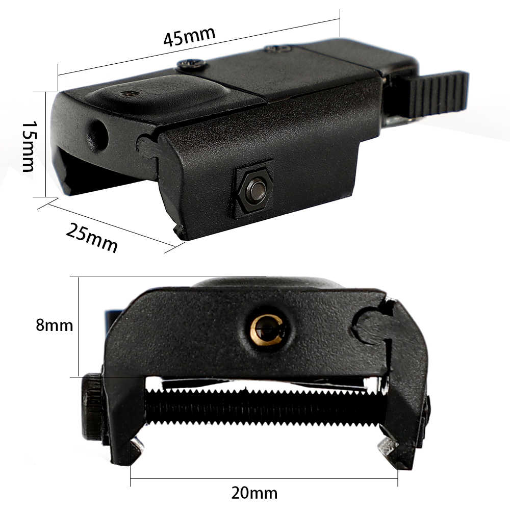 Ohhunt Ultradunne Compact Pistol Jacht Red Dot Laser Sight Scope Laser Pointer Airsoft Low Profile 20mm Picatinny Weaver Mount