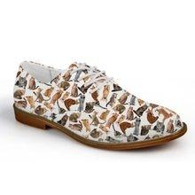 Бесшумные мужские повседневные туфли в деловом стиле; Лоферы для мальчиков с принтом в виде толпы кошек; Удобные туфли-оксфорды из искусств...