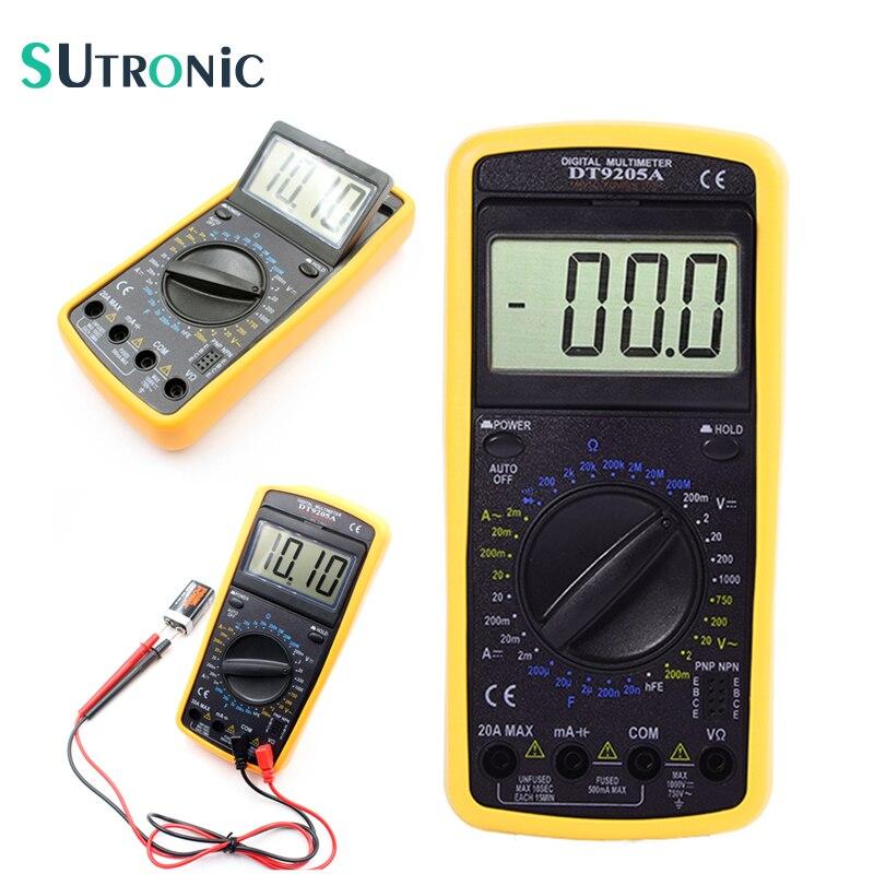 Dt9205 A Voltmètre Multimètre Numérique Ampèremètre Testeur De Capacité 9 V Bricolage