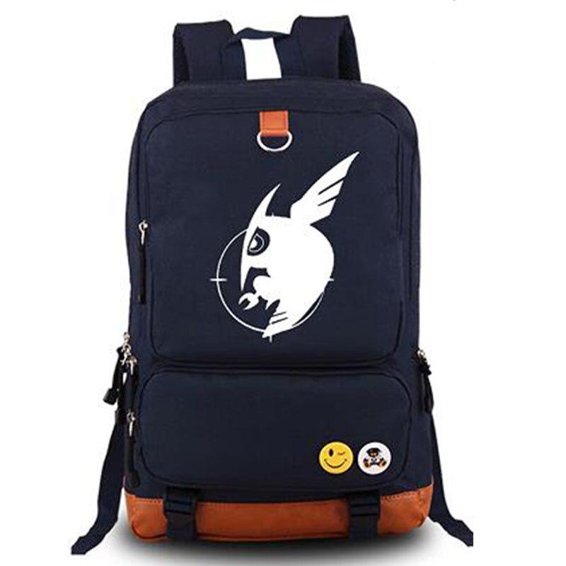 New 2016 Fashion Mens Luminous Backpack Akame ga KILL Canvas Backpacks Shoulder School Bag Travel Bags Daypack Mochila