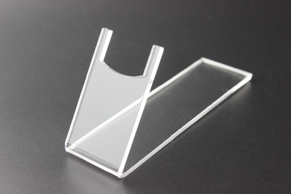 10 pcs Clear acrylic plexiglass pistols holder acrylic gun shoes display stand holder gun holder rack