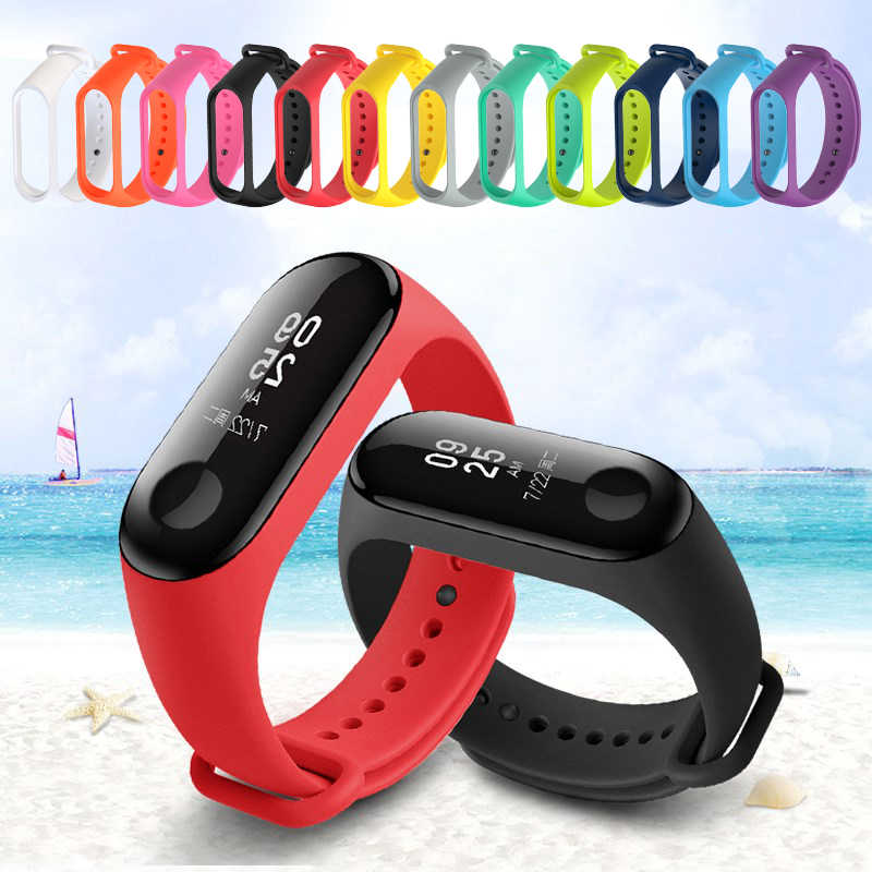 Silicone Wrist Strap for Xiomi Mi Band 3 Straps for Xiaomi Mi Band 4 3 2 M4 M3 M2 Band2 Band3 Band4 Watch Bracelet Accessories