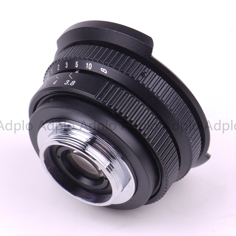 Fish eye Lens 8mm F3.8 For C Mount Camera + C to Micro M4/3 / NEX / N1 / Pentax Q /Fuji / M M2 Adapter Ring For DSLR Camera 4
