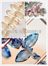 23*7MM 80Pcs Leaf Shape Crystal Lampwork Loose Bead Strand Jewelry Glass Beads Jewelry Accessories