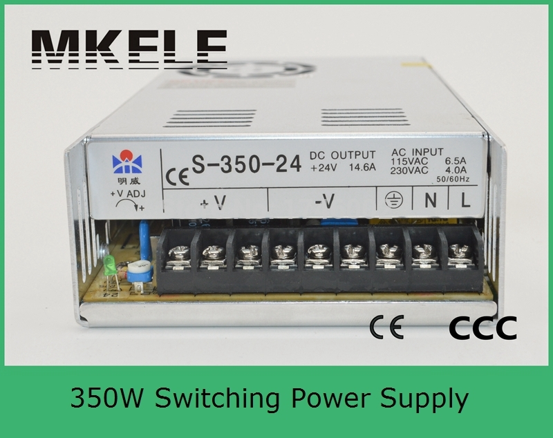 ФОТО Low price low ripple noise high efficiency CE approved S-350-24 24v 350w  14.6a switching model power supply from China Factory