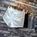 2016 verão e moda casual skinny jeans shorts das mulheres rosa preto branco rasgado buraco cintura baixa sexy short super calções