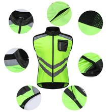 Reflective Windproof Cycling Vest Reflective Outdoor Running Bicycle Bike  Motorcycle Safety Clothing For Men And Women dd34d228f