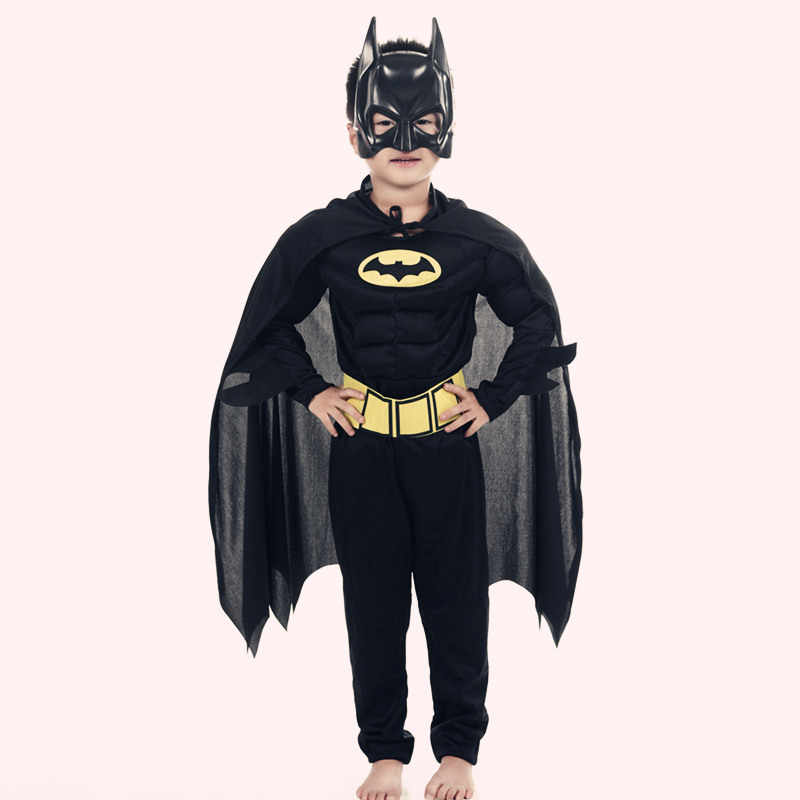 Anak-anak Vampir Otot Batman Costumes & Masks Cape Anak Superhero Cosplay Halloween Pesta Topeng Superman Kostum