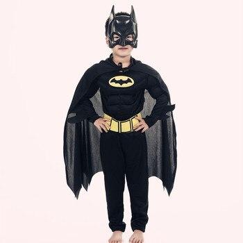 Kinderen Vampire Spier Batman Kostuums & Maskers Cape Jongen Superhero Cosplay Halloween Maskerade Partij Superman Kostuum