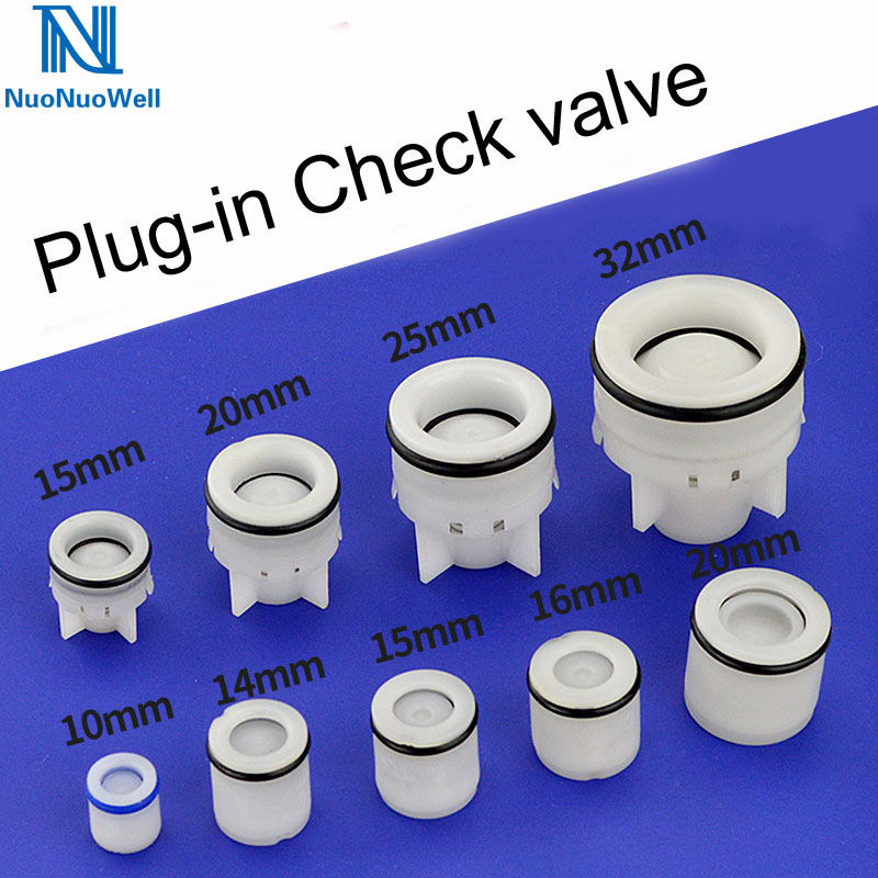 YINGJUN Valves 5PCS Plastic Check Valve Non-Return One Way Valve for Water Treatment Water Check Valve Specification : 6mm